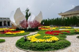 Flower garden at Ba Na Hills, Da Nang, Vietnam